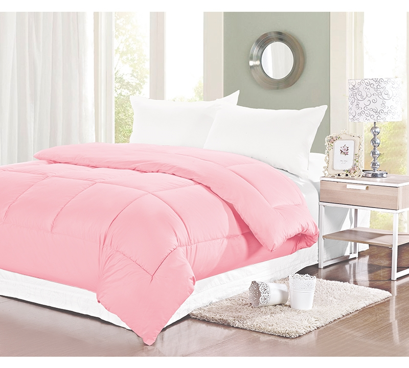 Natural Cotton Twin Xl Comforter Baby Pink Bedding