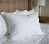 White Goose Down King Pillow Sets - Soft Bedding Pillow Sets in King Size White