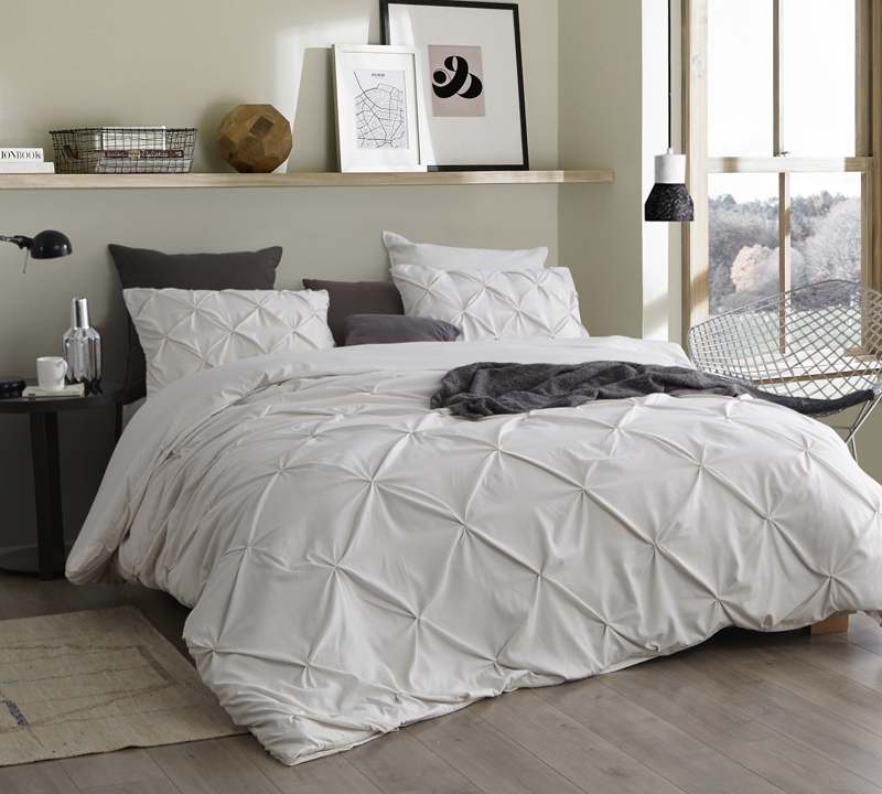 Essential Extra Long Twin Duvet Cover Off White Jetstream