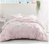 Rose Quartz Pin Tuck Duvet Cover - Oversized Bedding