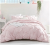 Pretty Pink Twin Extra Long Bedding Stylish Rose Quartz Pin Tuck Twin XL Duvet Cover