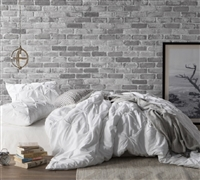 Extra Large Twin, Queen, or King Duvet Cover in Easy to Match White Color and Coziest Microfiber Material