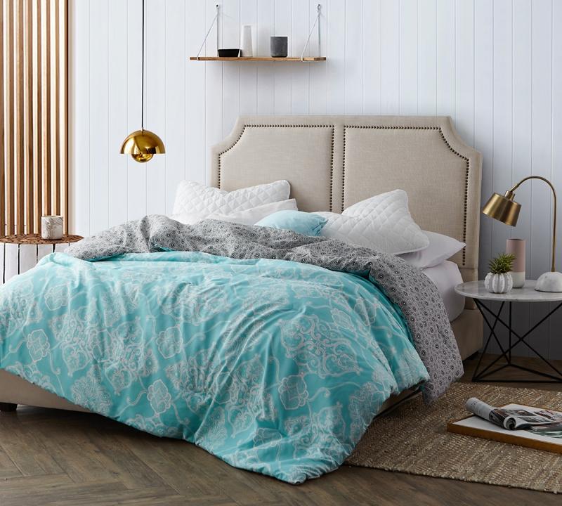 Selected Oversized Full size comforter sets Minty Aqua