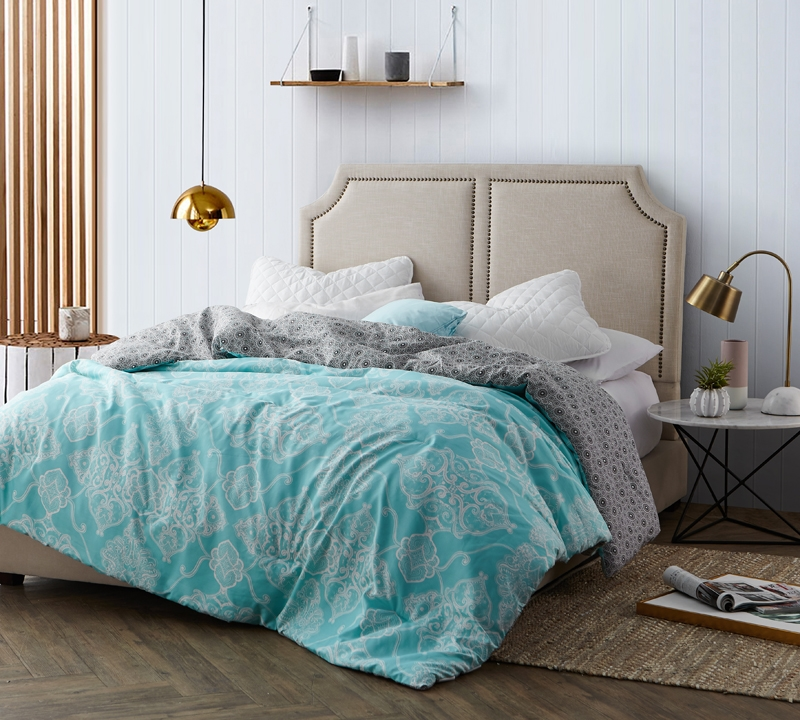 Alberobella - Minty Aqua King Comforter - Oversized King XL Bedding