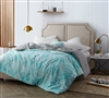 Minty Aqua Twin XL size bedding Comforters - buy comforters sized Twin oversize mint