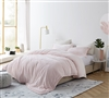 Extra Cozy Queen Oversize Soft Bedding Coma Inducer Rose Quartz Frosted Pink Queen XL Comforter