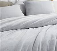 Gray Twin Extra Long Bedding Essentials Most Comfortable Twin XL Duvet Cover Frosted Granite Gray Coma Inducer