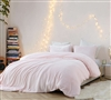 Best Coma Inducer Twin XL, Queen, and King Duvet Cover Beautiful Pink Frosted Rose Quartz Stylish Oversized Bedding Decor