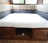 Available in Four Neutral Colors RV Size Square Double Fitted 100% Microfiber Sheet