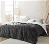 Are You Kidding? - Coma Inducer Queen Duvet Cover - Charcoal/White