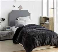 Essential Queen Oversized Duvet Cover Faded Black/Black Queen XL Bedding Made with High Quality Plush Bedding Materials