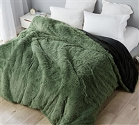 Are You Kidding? - Coma Inducer King Duvet Cover - Loden Frost/Black