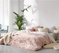 Coma Inducer Queen Duvet Cover - Are You Kidding? - Cloud Pink/White