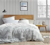 Extra Large Queen Duvet Cover White and Gray Machine Washable Plush Queen XL Bedding