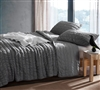 Lightweight Extra Large Full Cozy Cotton Quilt with Stylish Textured Pattern Most Comfortable Alloy Gray Cotton Pure Full XL Bedding