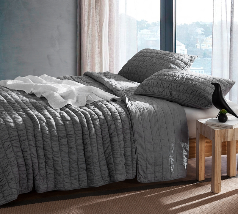 Alloy Cotton Pure Textured Quilt Oversized King Xl