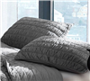 Alloy Cotton Pure Textured Queen sized bedding Shams - softest bedding sham sets alloy sized Queen