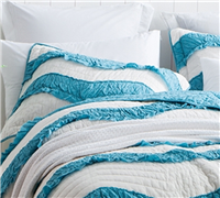 Off white Two Tone Standard Sham sized Queen - Luxury Queen size bedding sham sets off white