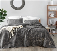 Filter Stone Washed Cotton Quilt - Pewter - Oversized King XL