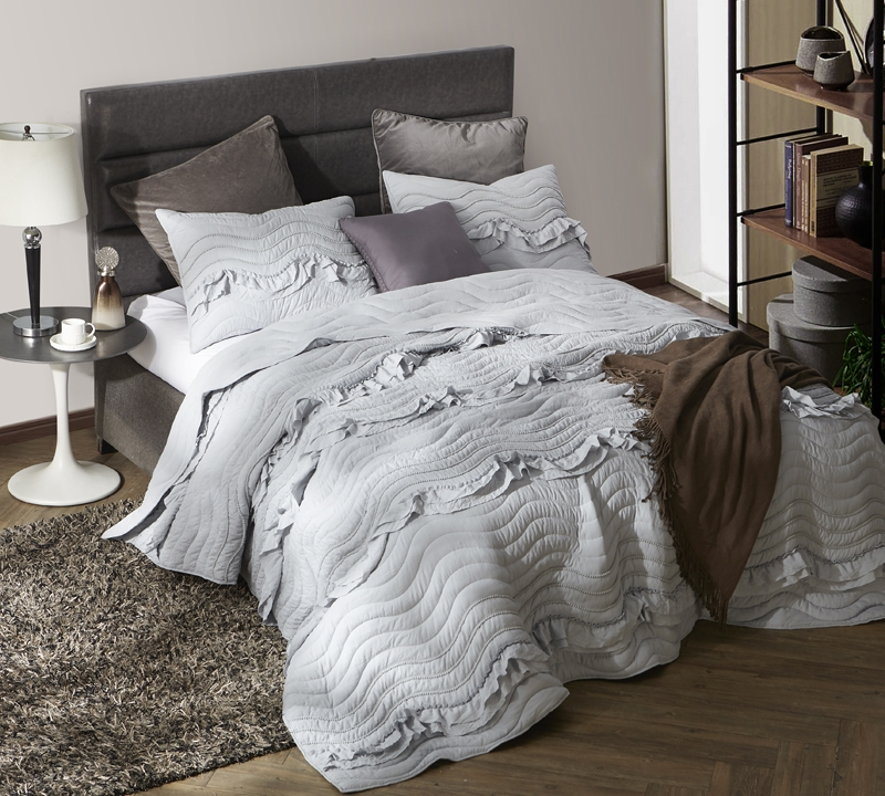 King Xl Bedding Unique King Oversize Quilt Handcrafted Light Gray