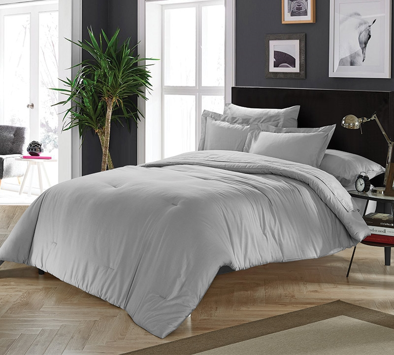 Chino Alloy Gray Full Comforter