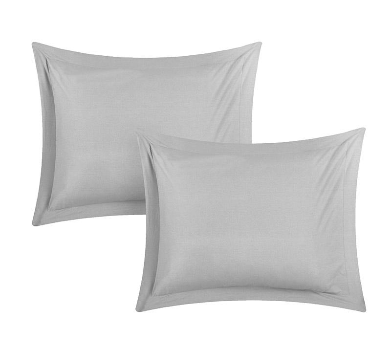 standard pillow shams. Chino Alloy Gray Standard Sham Pillow Shams