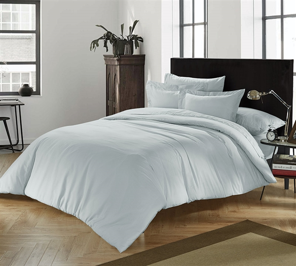 Chino Glacier Gray Full Comforter Oversized Full Comforter Bedroom Decor