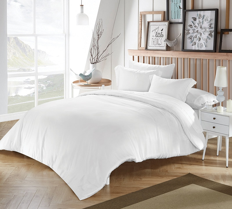 Unique White Bamboo Modal King Comforter QR07