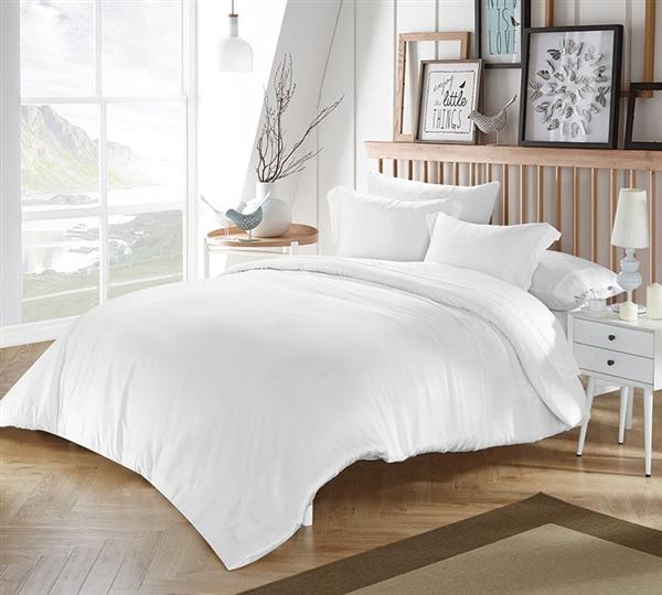White Bamboo Modal Queen Comforter