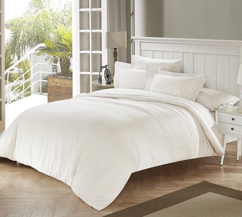 White Sand Tencel Twin Comforter With Invisible Tacking Oversized Xl Bedding