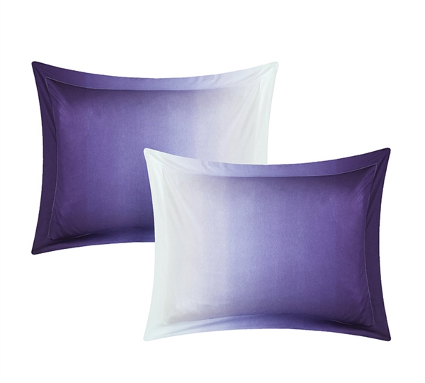 Ombre Purple Standard Bedding Pillow Sham Sets - Soft Pillow Shams to Buy