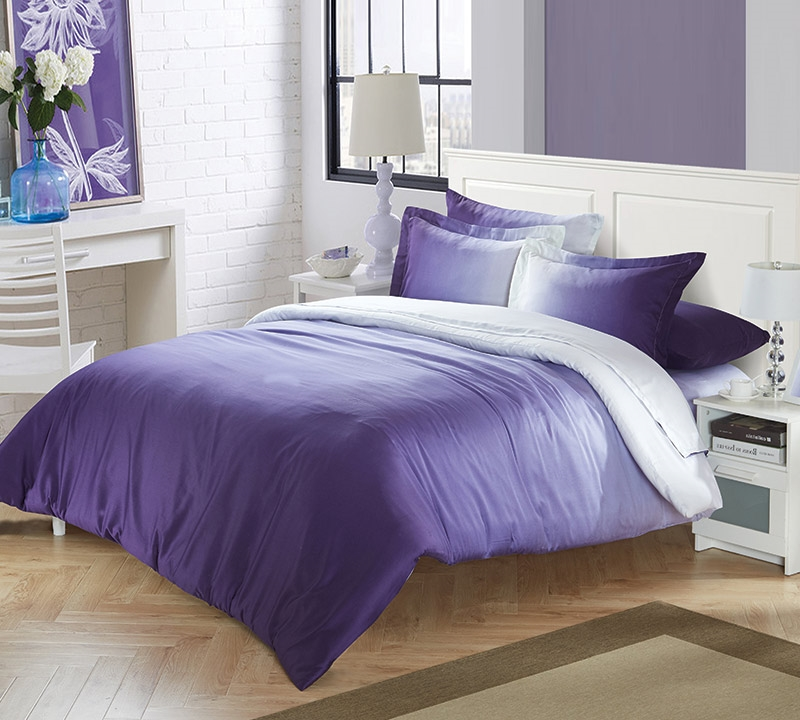 Ombre Purple Full Sheets. Choose Full Bed Sheet Sets   Purple Sheets in Full Size
