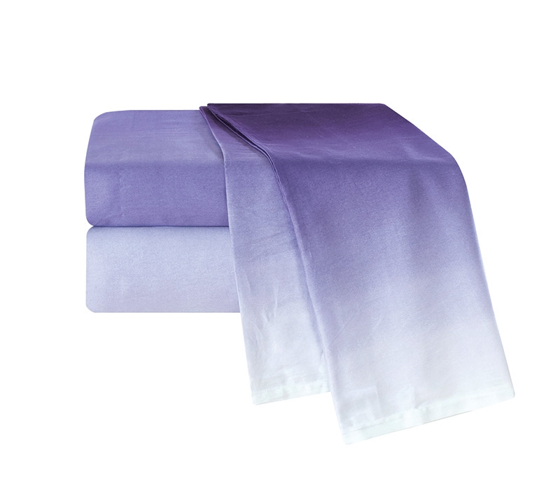 ombre purple king sheets