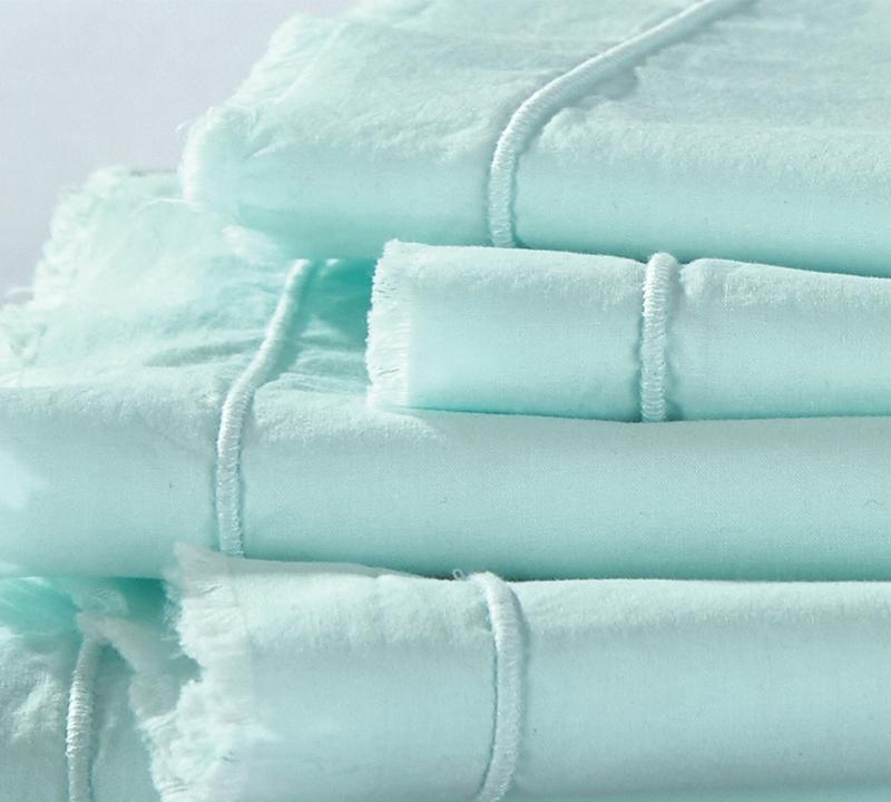 hint of mint eyelash textured queen sheets
