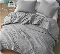 Extra Large Twin, Queen, or King Comforter with Cozy Weighted Material and Easy to Match Gray Shade