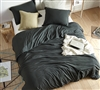 Chommie - Weighted Natural Loft Queen Comforter - Faded Black