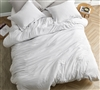 Extra Large Queen Bedding in Machine Washable Off-White Material and Super Soft Microfiber