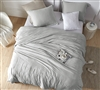 Oversized Queen XL Comforter with Cozy Weighted Fill and Soft Microfiber Cover in Neutral Gray