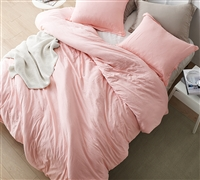 Oversized Queen Weighted Comforter in Fashionable Rose Pink Color with Machine Washable Material
