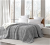 Extra Large Twin, Queen, or King Comforter with Weighted Fill and Neutral Gray Soft Microfiber Exterior