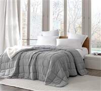 Cozy Weighted Fill and Stylish Neutral Gray Oversized Twin XL, Queen, or King Comforter