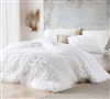 Pure White XL Twin, XL Queen, or XL King Comforter with Soft Microfiber and Warm and Cozy Plush