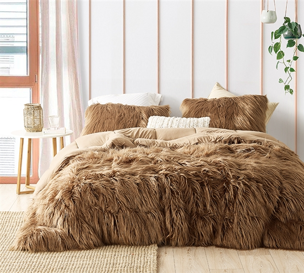 Grizzly Bear - Coma Inducer Queen Comforter - Toasted Coconut