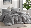 Twin Oversized Comforter Machine Washable Gray Extra Large Twin Plush Bedspread
