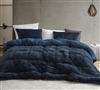 Navy Blue King Oversized Bedspread Machine Washable Microfiber and Plush XL King Comforter