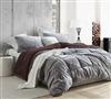 Aww Buddy - Coma Inducer Oversized Twin Comforter - Seal Brown