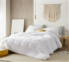 F-Bomb - Coma Inducer Oversized Queen Comforter - Pure White