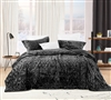 Bare Bottom Velvet Crush King Quilt - Pewter