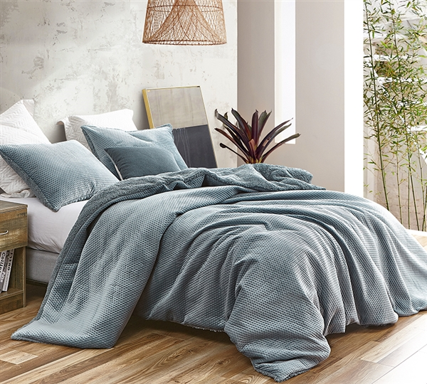 Embossy - Coma Inducer King Duvet Cover - Cinder Gray