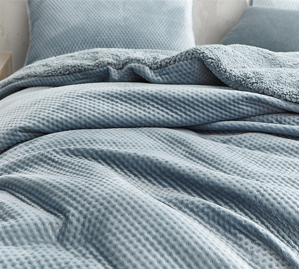 Embossy Coma Inducer Duvet Cover Cinder Gray